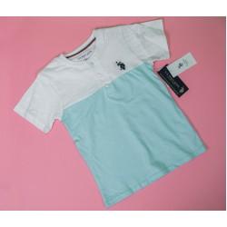 Henley Neck Kids T-shirt Mint