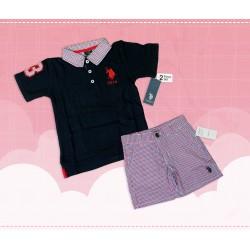 Polo Kids T-shirt Black Pink