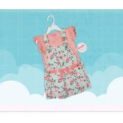 Romper Pink+Sky Girls
