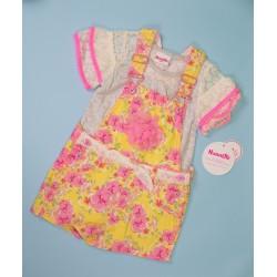 Romper Pink+Yellow Girls