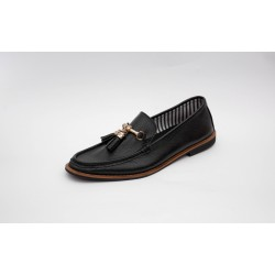 Loafer Tassel Buckel Black