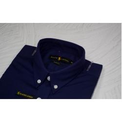 Shirt R L Navy Blue Solid