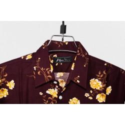 Linen Half Shirt - CH