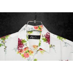 Linen Half Shirt - White
