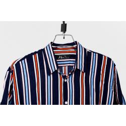 Linen Half Shirt - Black Check