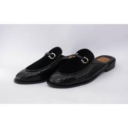 Half Shoe Dise Velvet BL